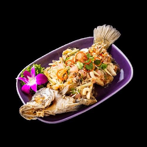 椰絲香柚魚(全台獨家)新鮮鱸魚佐特製柚香醬台灣限定的清新好味 $480