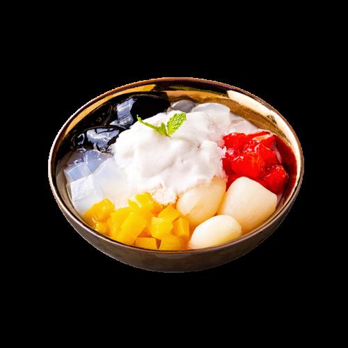 摩摩喳喳芋香西米露、亞達籽、波羅蜜紅毛丹、紅石榴等豐富材料呈現濃郁南洋風味$120